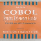 The Wiley COBOL Syntax Reference Guid by Nancy Stern & Stern bp book 0471540285