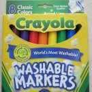 8 Crayola washable classic Markers Nontoxic wash kids drawing children paint NEW