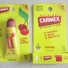 TWO CARMEX moisturizing lip balms Cherry .35 oz + Original 0.15 oz. SPF 15 NEW