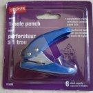 Staples mini 1-hole punch Ref # 41698 6 sheet capacity easy bottom empty rec NEW