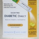 DIABETIC Direct CALCIUM Boost 20 of 1.94 g packets exp:07/2016 Lemon Flavor New