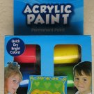 Acrylic Paint Permanent 6 jars ( .75 fl oz each ) quick Dry Bright colors Red NE