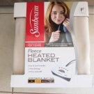 Sunbeam Fleece Heated Blanket FULL size Seashell color EXTRA SOFT sleep NEW easy