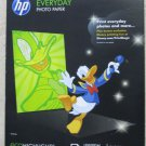 """HP Everyday Glossy Photo Inkjet Paper 8.5 x 11 """" , 50 sheets Q8723A papers print"""