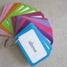 121 Words Reading Flash Cards with Ring multi color card learning young children