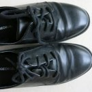 George Boys Black Dress Shoes Size 3 Lace-up Boy Very Good DARREN kids children