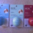 3 EOS Smooth Lip Balm Sphere : Blueberry Acai Sweet mint Pomegranate Raspberry
