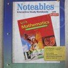 0078684218 Pb book Notables study Notebook Mathematics Course 1 Florida Edition
