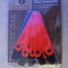 Reflective clip on trail markers 12 ct Mossy Oak Orange ribbon hunting fence NEW