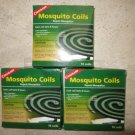 3 boxes of Coghlan's Mosquito Coils ( 10 coils box ) Repels Mosquitos lasts 8 hr