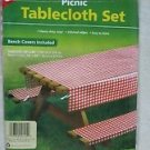 """Coghlan's Picnic Tablecloth Set With Bench Covers 54""""x 84"""" heavy duty vinyl 9155"""