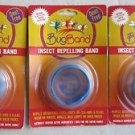 (LOT OF 3) Blue Bug Band Bugband Insect Repellent Safe for family Deet Free NEW