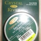 Crystal River Dacron fly line backing 20 lb x 100 yd Chartreuse fishing LFB-120C