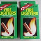 2 boxes of Coghlan's Coghlans Fire Lighters Survival Camping 0150 ( 20 ct. ea. )