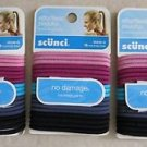3 Scunci No Damage Hair Ties Ponytail Holders 18 pc (54 ct total) pink bk Colors
