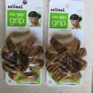 TWO Scunci Effortless Beauty hair clips no slip slip 36159-A all day hold NEW