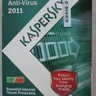 Kaspersky Anti-Virus 2011 Essential internet threat protection 1 PC / 1 Year NEW