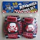 Kids Elbow & Knee Pads set Raskullz 3-D sculpted design ( no GLOVE ) RED protect