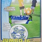 "Franklin JUMBO beach ball Soccerball 16 "" Blue color soccer ball play kids NEW"