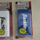 """2 packs Franklin Pro Wristbands 6"""" WHITE & BLUE Professional (Pair pack) N 3125"""