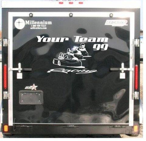 Go Cart Racing Enclosed Trailer Custom Vinyl Sticker Decal Graphics FREE SHIPPING!