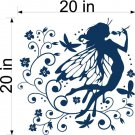 Fairy Magical Flowers Vinyl Wall Art  Stickers Decals