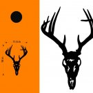 Buck English Mount Hunting Cornhole Decals Stickers