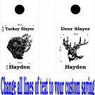 Deer Turkey Hunting Cornhole Decals Stickers BO9