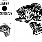 Bass Fishing Hunting Cornhole Decals Stickers BA4