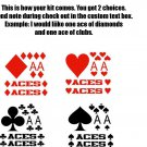 Aces Poker Cards Cornhole Board Decals Stickers H1