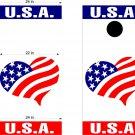 USA Patriotic US Cornhole Board Decals Stickers 2