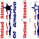 USA Patriotic US Stars Cornhole Board Decals Sticker 7