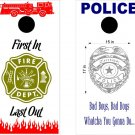 Fire Police Firemen Cornhole Board Decals Sticker 4