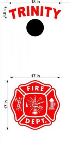 Fire Police Firemen Cornhole Board Decals Sticker 5