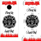 Fire Police Firemen Cornhole Board Decals Sticker 13