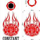 Fire Police Firemen Cornhole Board Decals Sticker 14
