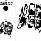 Skull Joker Cornhole Board Decals Sticker