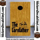 God Corn father Cornhole Board Decals Stickers