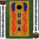 USA Patriotic US Stars Cornhole Board Decals Sticker 6