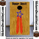 USA Patriotic US Stars Cornhole Board Decals Sticker 4