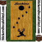 Deer Buck Hunting Cornhole Board Decals Stickers 3