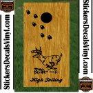 Deer Buck Hunting Cornhole Board Decals Stickers 2