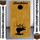 Elk Buck Hunting Cornhole Board Decals Stickers BO4