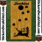 Moose Hunting Cornhole Board Decals Stickers BO6