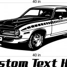 Plymouth Cuda Auto Car Vinyl Wall Art Sticker Decal