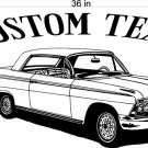 55 Chevy Impala Auto Car Vinyl Wall Art Sticker Decal