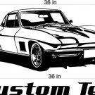67 Chevy Corvette Auto Car Vinyl Wall Art Sticker Decal