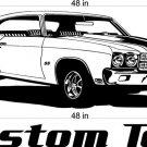 70 Chevy Chevelle Auto Car Vinyl Wall Art Sticker Decal