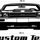70 Chevy Chevelle Auto Car Vinyl Wall Art Sticker Decal 2