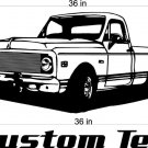 72 Chevy Truck Auto Car Vinyl Wall Art Sticker Decal